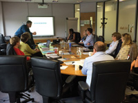 The meeting was hosted by Steve Ward at NG Bailey's offsite manufacturing facility in Bradford