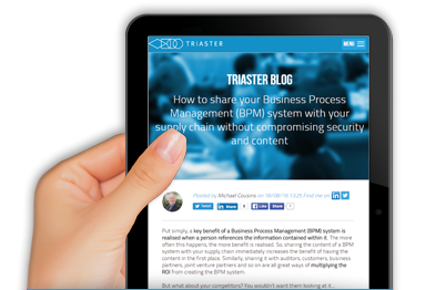 Sign up for the Triaster Blog Free articles straight to your inbox!